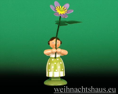 Seiffen Weihnachtshaus - Wiesenblumenkind 11cm Leberblume - Bild 1