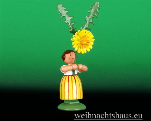 Seiffen Weihnachtshaus - Wiesenblumenkind 11cm Löwenzahn - Bild 1