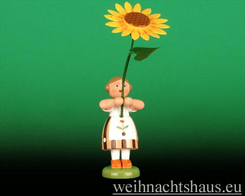 Seiffen Weihnachtshaus - Sommerblumenkind 12cm Sonnenblume - Bild 1