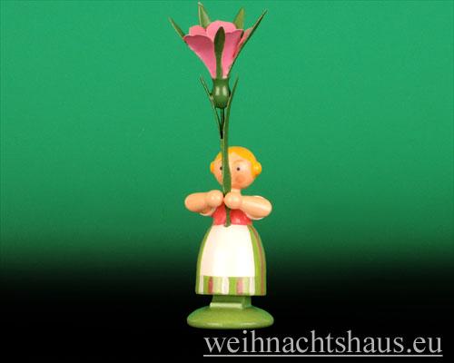 Seiffen Weihnachtshaus - Wiesenblumenkind 11cm Winde - Bild 1