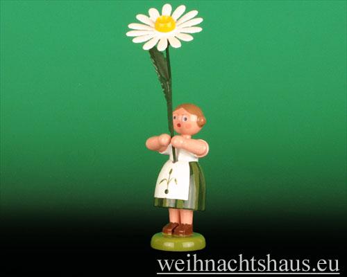 Seiffen Weihnachtshaus - Sommerblumenkind 12cm Margerite - Bild 1