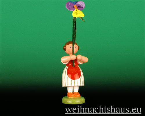 Seiffen Weihnachtshaus - Sommerblumenkind 12cm Stiefmütterchen - Bild 1