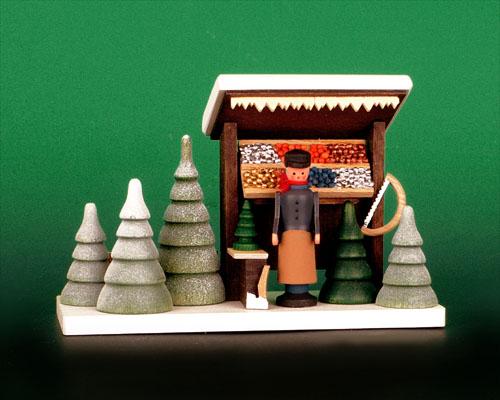Seiffen Weihnachtshaus - Weihnachtsmarkt Christbaumstand - Bild 1