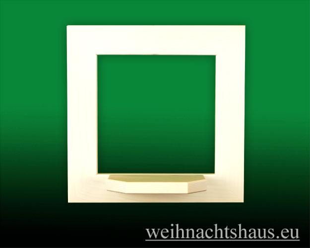 Seiffen Weihnachtshaus - Wandrahmen Fichte weiß B 24 x H 24 cm - Bild 1