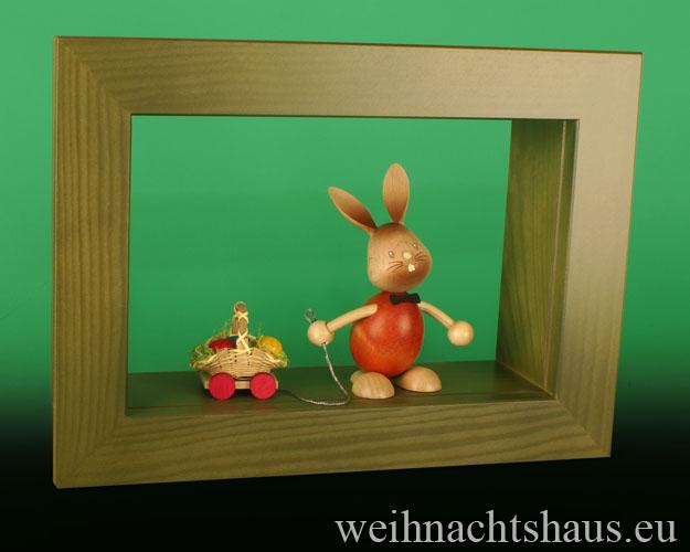 Seiffen Weihnachtshaus - Wandrahmen-Kastenrahmen weiß Rahmen aus Holz    B 33 x H 24 cm - Bild 3