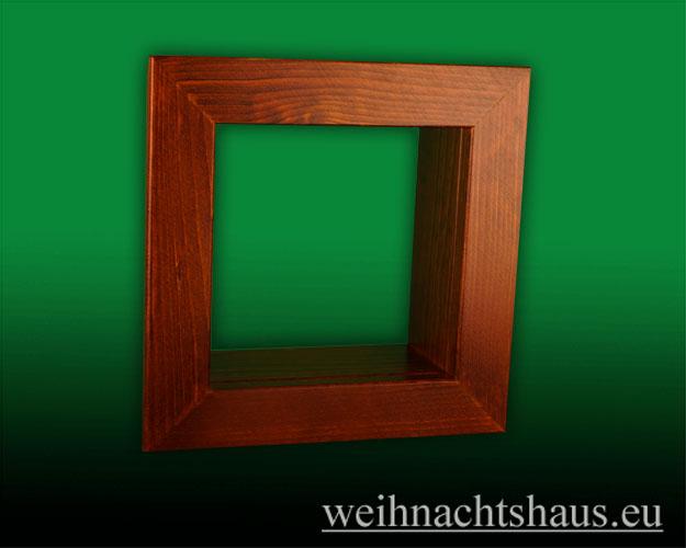 Seiffen Weihnachtshaus - Wandrahmen-Kastenrahmen braun Rahmen aus Holz    B 24 x H 24 cm - Bild 1