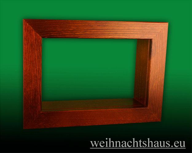 Seiffen Weihnachtshaus - Wandrahmen-Kastenrahmen braun Rahmen aus Holz    B 33 x H 24 cm - Bild 1