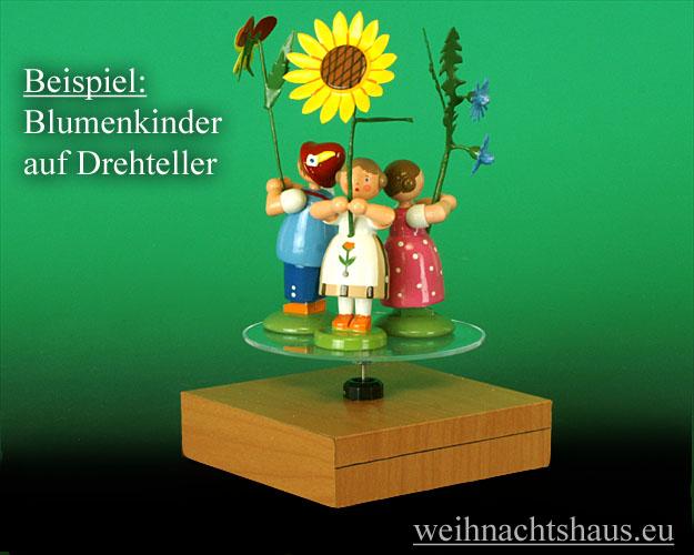 Seiffen Weihnachtshaus - Sommerblumenkind 12cm Sonnenblume - Bild 3