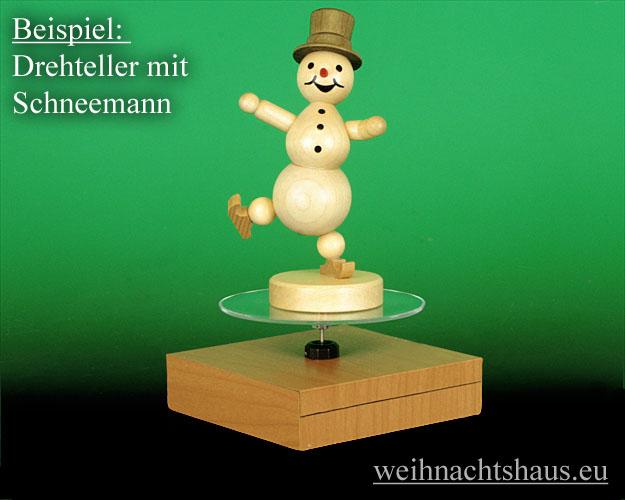 Seiffen Weihnachtshaus - Drehteller für Figuren - Bild 2