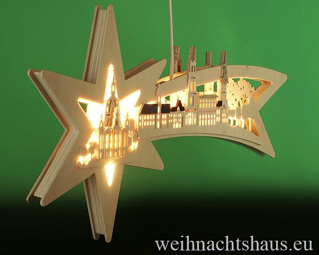 Seiffen Weihnachtshaus - Doppelbogen Sternenschweif Dresdener Frauenkirche - Bild 2