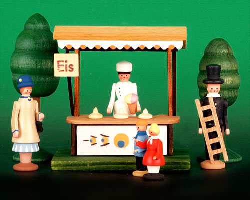 Seiffen Weihnachtshaus - Sommermarkt Eisstand 7 tlg - Bild 1