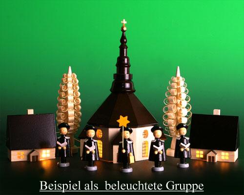 Seiffen Weihnachtshaus - Haus zum Beleuchten 5,5 cm dunkel - Bild 2