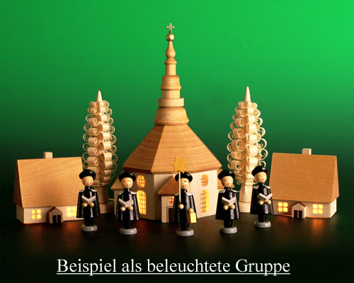 Seiffen Weihnachtshaus - Haus zum Beleuchten 5,5 cm hell - Bild 2