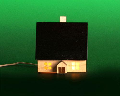 Seiffen Weihnachtshaus - Haus zum Beleuchten 5,5 cm dunkel - Bild 1