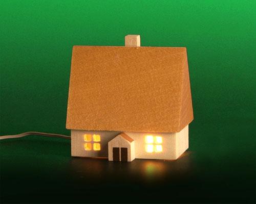 Seiffen Weihnachtshaus - Haus zum Beleuchten 5,5 cm hell - Bild 1