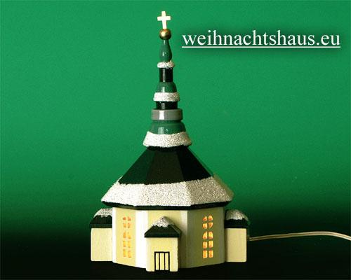 Seiffen Weihnachtshaus - Kirche zum Beleuchten 20 cm Schnee - Bild 1