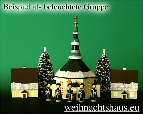 Seiffen Weihnachtshaus - Haus zum Beleuchten 8,5 cm Schnee - Bild 2