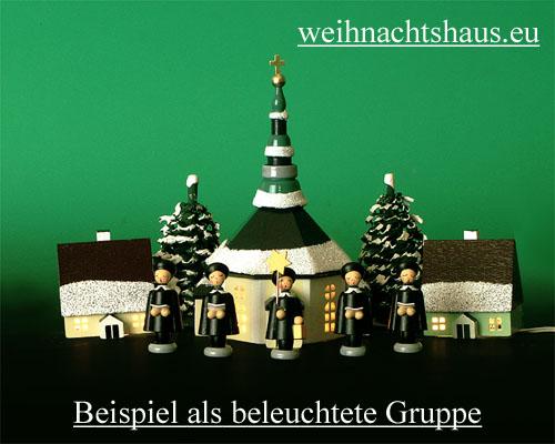 Seiffen Weihnachtshaus - Haus zum Beleuchten 4,5 cm Schnee - Bild 2