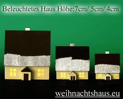 Seiffen Weihnachtshaus - Haus zum Beleuchten 8,5 cm Schnee - Bild 3