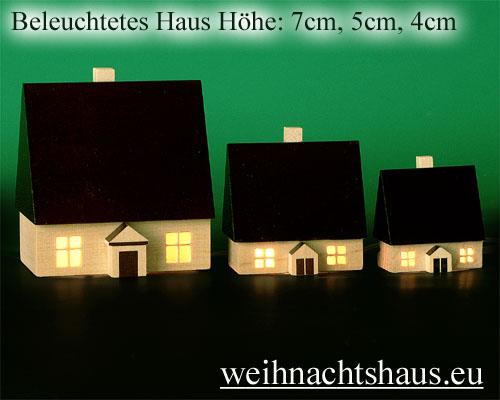 Seiffen Weihnachtshaus - Haus zum Beleuchten 4,5 cm dunkel - Bild 3