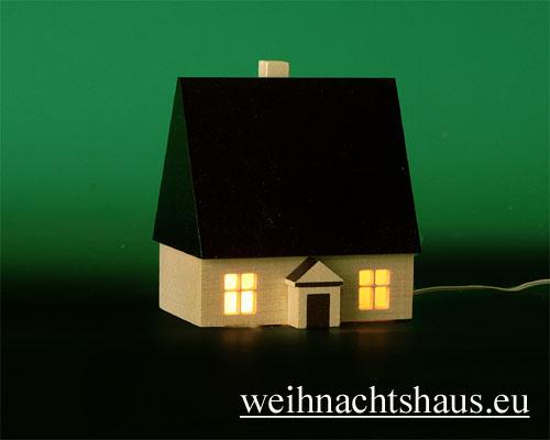 Seiffen Weihnachtshaus - Haus zum Beleuchten 8,5 cm dunkel - Bild 1
