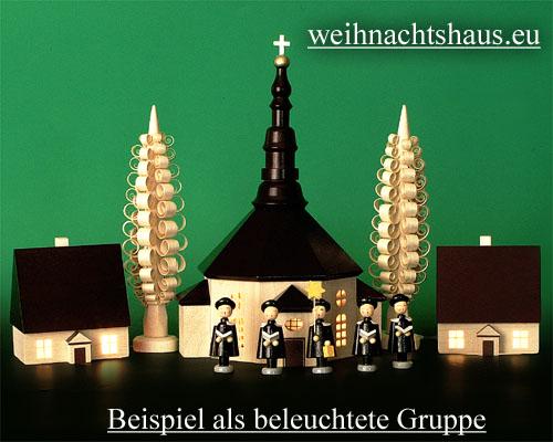 Seiffen Weihnachtshaus - Haus zum Beleuchten 8,5 cm dunkel - Bild 2