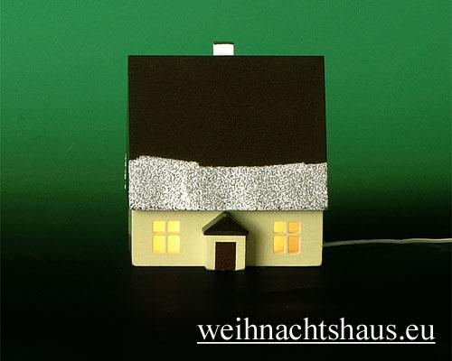 Seiffen Weihnachtshaus - Haus zum Beleuchten 8,5 cm Schnee - Bild 1