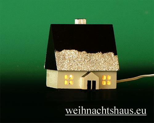 Seiffen Weihnachtshaus - Haus zum Beleuchten 4,5 cm Schnee - Bild 1