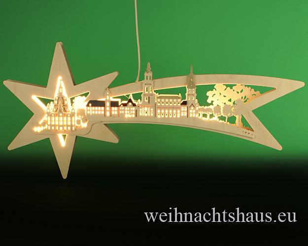 Doppelbogen Sternenschweif Dresdener Frauenkirche Erzgebirge Fensterbeleuchtung Deko Weihnachtsdeko Fensterdek Weihnachten kaufen