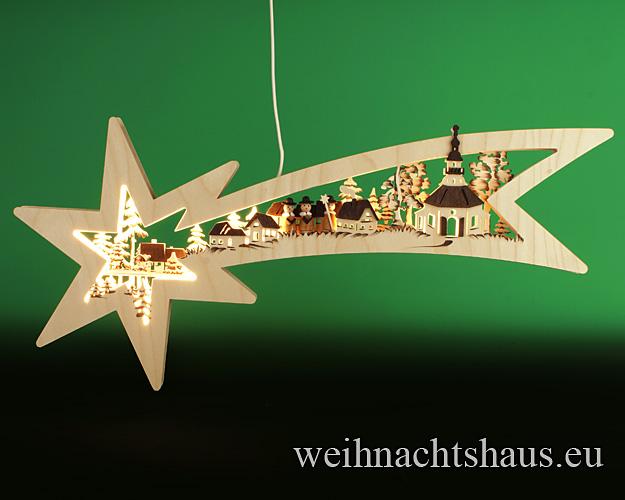 Seiffen Weihnachtshaus - Doppelbogen Sternenschweif Seiffener Kirche - Bild 1