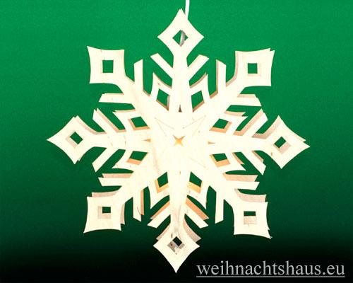 Seiffen Weihnachtshaus - Fensterbild bel. Kristall - Bild 1