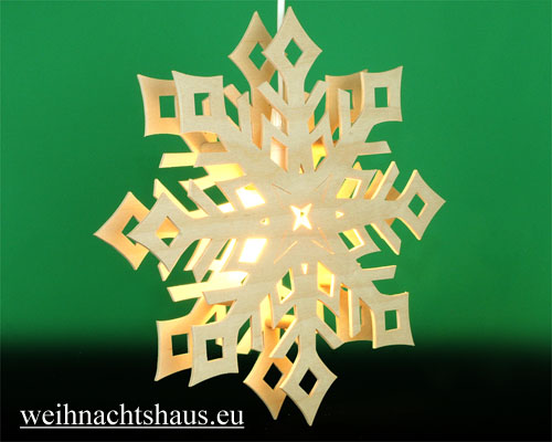 Seiffen Weihnachtshaus - Fensterbild bel. Kristall - Bild 2