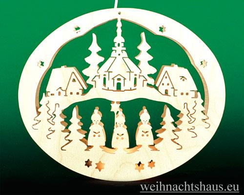 Seiffen Weihnachtshaus - Fensterbild bel. Seiffener Kirche - Bild 1