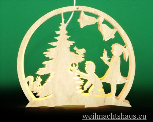 Seiffen Weihnachtshaus - Fensterbild bel. Weihnachtsbaum - Bild 1