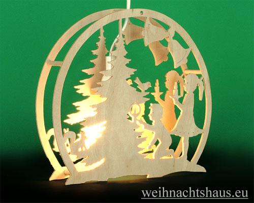 Seiffen Weihnachtshaus - Fensterbild bel. Weihnachtsbaum - Bild 2