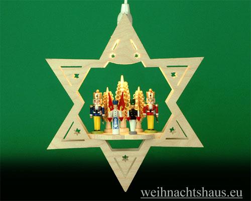 Seiffen Weihnachtshaus - Fensterbild bel.  Stern Engel & Bergmann - Bild 1