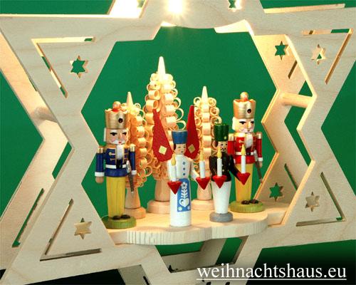Seiffen Weihnachtshaus - Fensterbild bel.  Stern Engel & Bergmann - Bild 2
