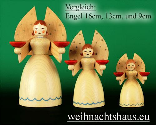 Seiffen Weihnachtshaus - Barockengel Erzgebirge natur klein - Bild 2