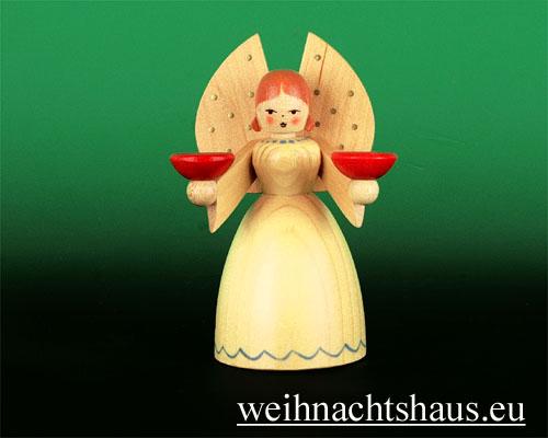 Seiffen Weihnachtshaus - Barockengel Erzgebirge natur klein - Bild 1