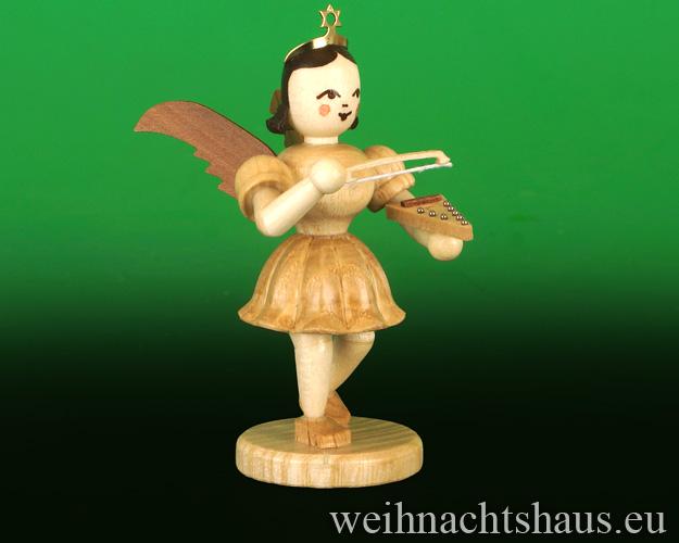 Seiffen Weihnachtshaus - Kurzrockengel      natur    Psalter Blank Neuheit 2019 - Bild 1