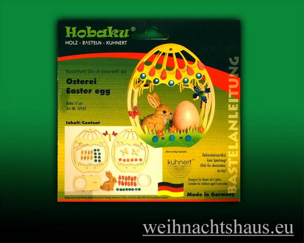 Seiffen Weihnachtshaus - Bastelsatz Erzgebirge Osterbasteln Osterei - Bild 1