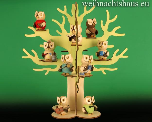 Seiffen Weihnachtshaus - Eulenbaum, Baum für Eulen - Bild 2