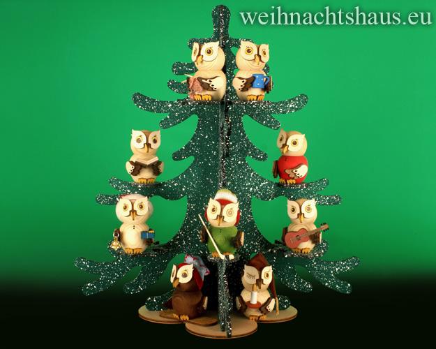 Seiffen Weihnachtshaus - Eulenbaum, Winter-Baum für Eulen - Bild 2