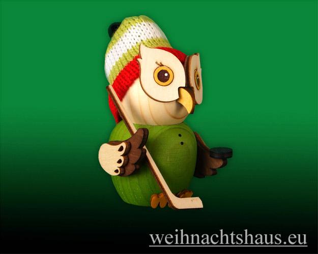Seiffen Weihnachtshaus - Eule  klein  Eule  Hockeyspieler - Bild 1
