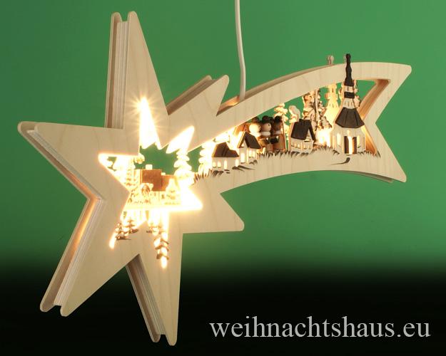 Seiffen Weihnachtshaus - Doppelbogen Sternenschweif Seiffener Kirche - Bild 2