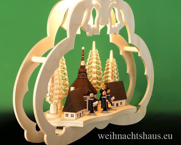 Seiffen Weihnachtshaus - Fensterbild bel.   Seiffener Kirche - Bild 2