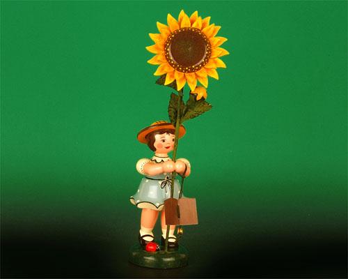 Seiffen Weihnachtshaus - Hubrig Blumenkind Mädchen 24cm Sonnenblume - Bild 1
