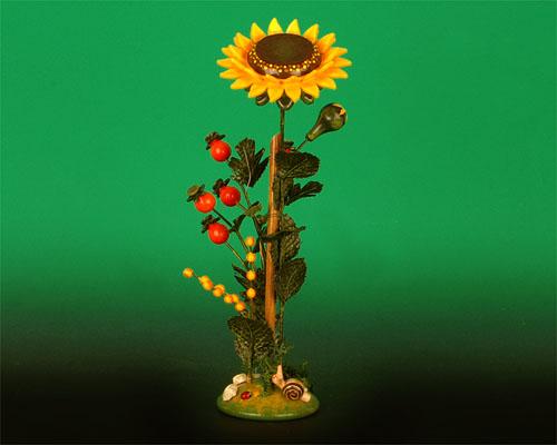 Seiffen Weihnachtshaus - Blumeninsel 24cm Sonnenblume - Bild 1