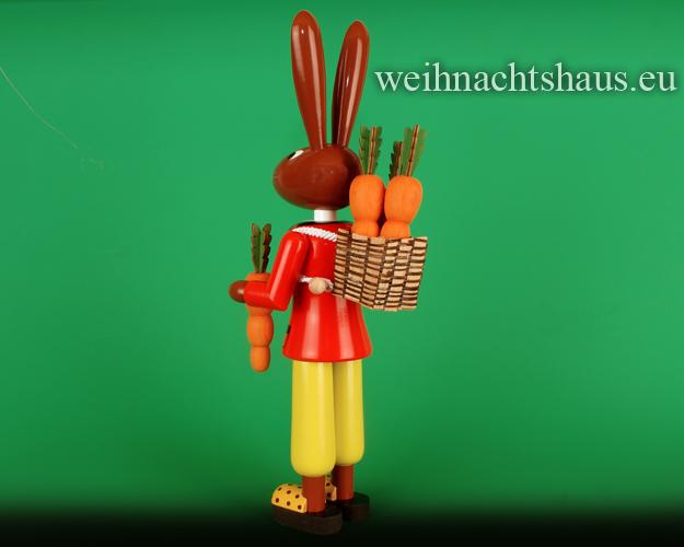 Seiffen Weihnachtshaus - Großer Osterhase Hasenmann rote Jacke ca. 42cm - Bild 2