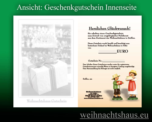 Seiffen Weihnachtshaus - Gutschein 40,00 € - Bild 2